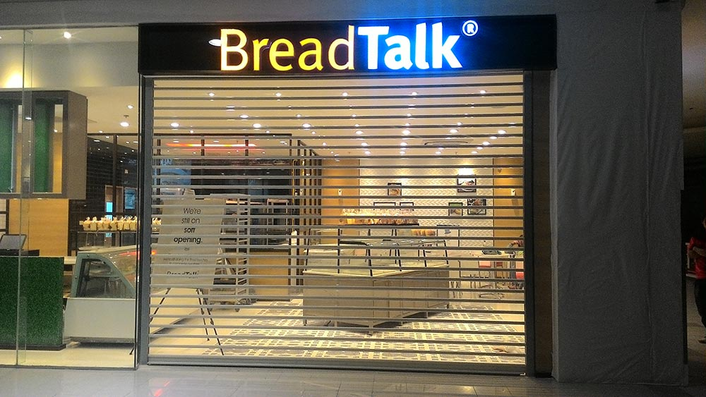 Our Client - Breadtalk Megamall Motorized Polycarbonate Roll-up Door Mandaluyong City Manila Philippines