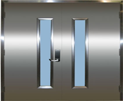 Stainless Door with vertical Glass