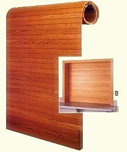 Wooden Rool-Up Window