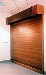 Wooden Rool-Up Door